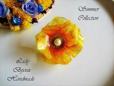 Anello regolabile con fiore di campo giallo di Lady Bijoux Handmade su DaWanda.com