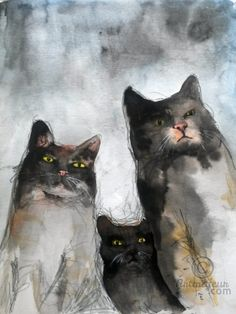 GANG OF CATS (Peinture)