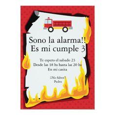 Fireman Birthday, Fireman Party, Fire Trucks, Birthday Party Invitations, First Birthdays, Cute, Sentences, Firefighter Cakes, Firefighter Decor