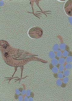 Ken kiuruista kaunein   Pihlgren ja Ritola Osakeyhtiö Designer Wallpaper, Art Deco, Mid Century, Kids Rugs, Birds, Retro, Inspiration, Wallpapers, Patterns