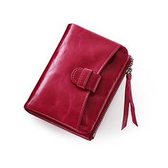Teemzone Womens Leather Organizer Zipper Around Coin Holder Wallet Credit Card Holder Purse rose ** Continue to the product at the image link.