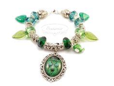 Absinthe fairy modular bracelet Absinthe Fairy, Turquoise Bracelet, Handmade Jewelry, Pendants, Bracelets, Earrings, Ear Rings, Stud Earrings, Handmade Jewellery