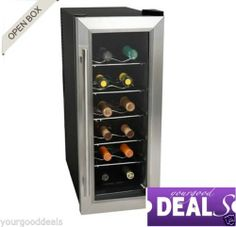 Koldfront 12 Bottle Slim Fit Wine Cooler Stainless Steel Thermoelectric Chiller | eBay