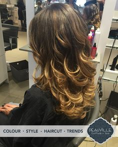 Another happy client at Salon Deauville. This beauty was created by Alex! Call and book your appointment and let us make your beauty shine too! #deauville #spa #coiffure #montreal #stylists #hairsalon #beauty #colortechnician #blonde #highlights #streaks #lowlights #ombre #curls #waves