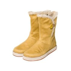 yellow winter boots