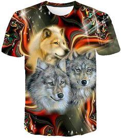 Bekleidung, Herren, Tops, T-Shirts & Hemden, T-Shirts Shirt Bluse, Herren T Shirt, Tank Top Shirt, Tank Tops, Under Armour Herren, Unisex, Wolf, Sport, Tie Dye