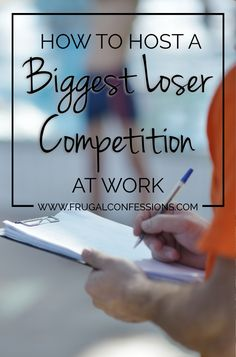 Hosting a biggest loser competition at work is inexpensive and a lot of fun. It also helped coworkers to become healthier. | http://www.frugalconfessions.com/miscellaneous/how-to-host-a-biggest-loser-competition-at-work.php