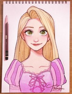 31 Ideas Painting Disney Characters Rapunzel For 2019 Disney Drawings Sketches, Cute Disney Drawings, Disney Princess Drawings, Disney Princess Art, Cute Drawings, Drawing Sketches, Drawing Disney, Drawings Of Disney Characters, Drawing Drawing