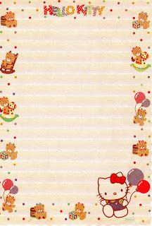 Atelier Gigi Arteira: Papel de Carta da Hello Kitty...mais
