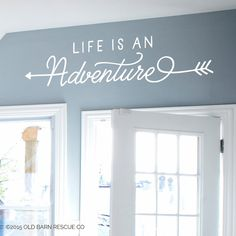 Life is an Adventure - Wall Decal Design with Arrows  Comes in the color of your choice, just tell us your color choice in the note from