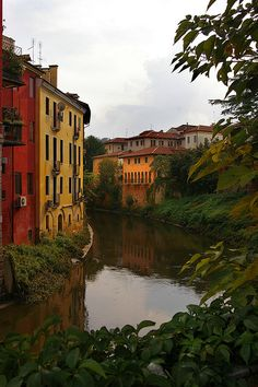 The Fiume Retrone in Vicenza, Italy