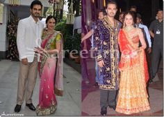 Esha_Deol_Engagement_and_Sangeet Manish Malhotra Saree, Kareena Kapoor Saree, Indian Bridal Sarees, Crepe Saree, Wedding Sari, Sari Blouse Designs, Saree Trends, Embroidery Saree, Latest Sarees
