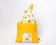 Fabric Cottage with Pocket  Pillow House with Fairy by CottnLove