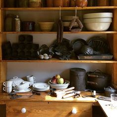 Good Morning! A nice little view of Ulysses & Julia's pantry located in the President's home here in Galena. : @kristosween
