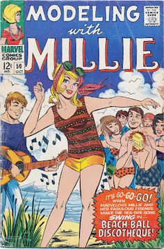 Modeling with Millie Marvel Comic (1960s)