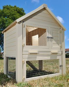 Rabbit Hutch made from Eco-Flex Material. Definitely want another bunny when I have the room. This would be awesome!