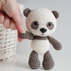 Hello new week! #amigurumi #amigurumilove #weamiguru #crochet #crochetersofinstagram #panda #teddybear #cuteness #crochetaddict