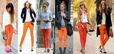 Cómo combinar la ropa en otoño El color naranja