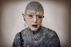 Isobel Varley, the World's most tattooed senior woman    Photo credit: © Andrea Gjestvang