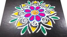 Rangoli Designs Flower, Rangoli Patterns, Rangoli Designs Images, Diwali Decorations, Festival Decorations, Good Morning Happy, Simple Rangoli, Blouse Designs, Beach Mat