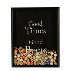 Beer Bottle Cap Collector -with Good Times Good Beers graphic applied to glass - I should make this.