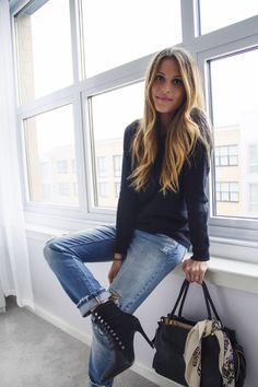 Levi's 501's & lace up booties