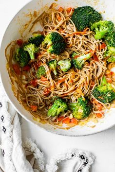 This spicy Soba Noodle Veggie Stir Fry is a quick and easy meal for one, and perfect as a dairy-free, vegetarian dinner.Soba Noodle Veggie Stir-fryIf you love Vegetarian Recipes, Cooking Recipes, Vegetarian Dinners, Healthy Recipes, Easy Meals For One, Veggie Stir Fry, Vegetarian Stir Fry Noodles, Asian Soup, Asian Recipes