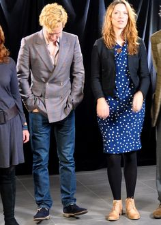 Is this seriously a photo of Ben standing next to a pretty girl and staring at his shoes? lol.  I have no idea what the context for this is, and I'm sure in actuality it's something much less cliche, but taken at face value, this is adorable! haha.