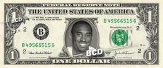 KOBE BRYANT on a REAL Dollar Bill Cash Money Memorabilia Collectible Celebrity