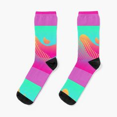 Fun Socks, Bff Gifts, Canvas Prints, Art Prints, Gradient Color, Rainbows, Blue Green, Finding Yourself, Aesthetics