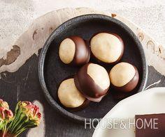 Buckeye Balls | Photographer: Stacey Brandford Designer: Food styling, David Grenier; Prop styling, Sasha Seymour