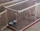 Solid RED OAK Large Indoor Dog Kennel with Durable, Waterproof, Snap-on, Fabric Floor Mat. Perfect Indoor Pen for your smaller pet by kennelmaster on Etsy Extra Large Dog Crate, Portable Dog Kennels, Puppy Pens, Dog Barrier, Dog Crate Furniture, Diy Dog Kennel, Puppies Tips, Indoor Pets, Pet Gate