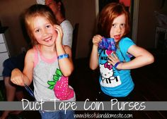 Duct Tape Coin Purses. Super fun for the littles