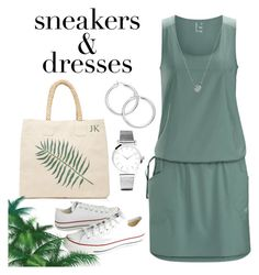 """""""Sneakers & dress"""" by vettec ❤ liked on Polyvore featuring Arc'teryx, Converse, Rae Feather, Links of London and Larsson & Jennings"""