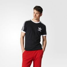 adidas Originals Mens Tops California Tee Black Medium * You can find out more details at the link of the image. (This is an affiliate link) Striped Long Sleeve Shirt, Striped Tee, Long Sleeve Shirts, Tee Shirt Homme, Adidas Originals Mens, Sport T Shirt, Mens Tees, Adidas Men, Menswear