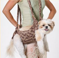 Crochet dog shoulder bag!! (cant find the website this was from)