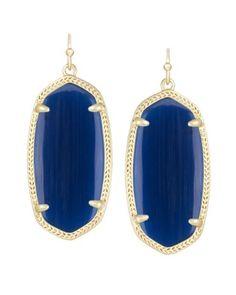 Gold Statement Earrings, Gold Drop Earrings, Blue Earrings, Dangle Earrings, Topaz Earrings, Glass Earrings, Diamond Earrings, Kendra Scott Danielle Earrings, Kendra Scott Jewelry