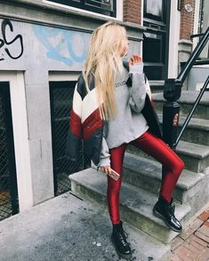 30 Perfect Looks To Copy This November #refinery29 http://www.refinery29.com/2016/11/128251/new-outfit-ideas-november-2016#slide-17 If there's anything we've learned this year, it's that leggings should most definitely be worn as pants....