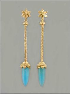 Alloyed, milled, fused, formed and granulated, 22 karat gold with hand cut perivian opals by artist Karen Keit