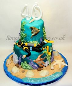 Scuba Diver Under the Sea - by Stef and Carla (Simple Wish Cakes) @ CakesDecor.com - cake decorating website
