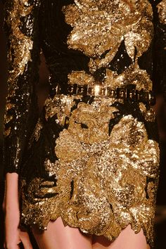 Balmain gold dress