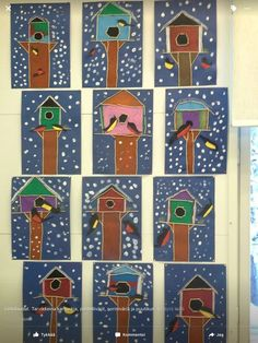 Arts And Crafts Ideas For Toddlers Christmas Art For Kids, Winter Crafts For Kids, September Art, Kindergarten Art Projects, Winter Art Projects, Winter Painting, Spring Art, Preschool Art, Art Classroom