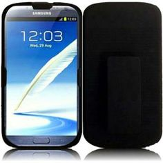 INSTEN For Samsung Galaxy S Note 2 N7100 Rubberized Cover With Holster - Black