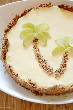 Classic key lime pie with a browned butter graham cracker and gingersnap crust