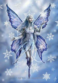 Anne Stokes - Winter fairy