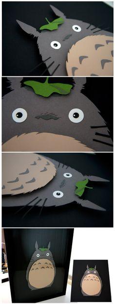 """""""Totoro"""" - Studio Ghibli - 3D hand cut paper craft by Pigg"""