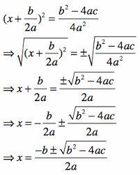 quadratic formula proof에 대한 이미지 검색결과