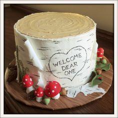 February 8th, 2014...Birch Baby Shower Cake