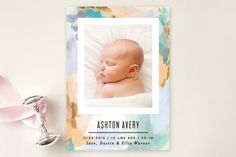 Canvas Snapshot Birth Announcements by Alethea and Ruth at minted.com