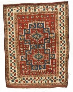 Bergama rug, turkish traditional textiles, 19th c.